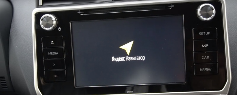 Yandex Навигатор, интернет и Android на Toyota Land Cruiser 200